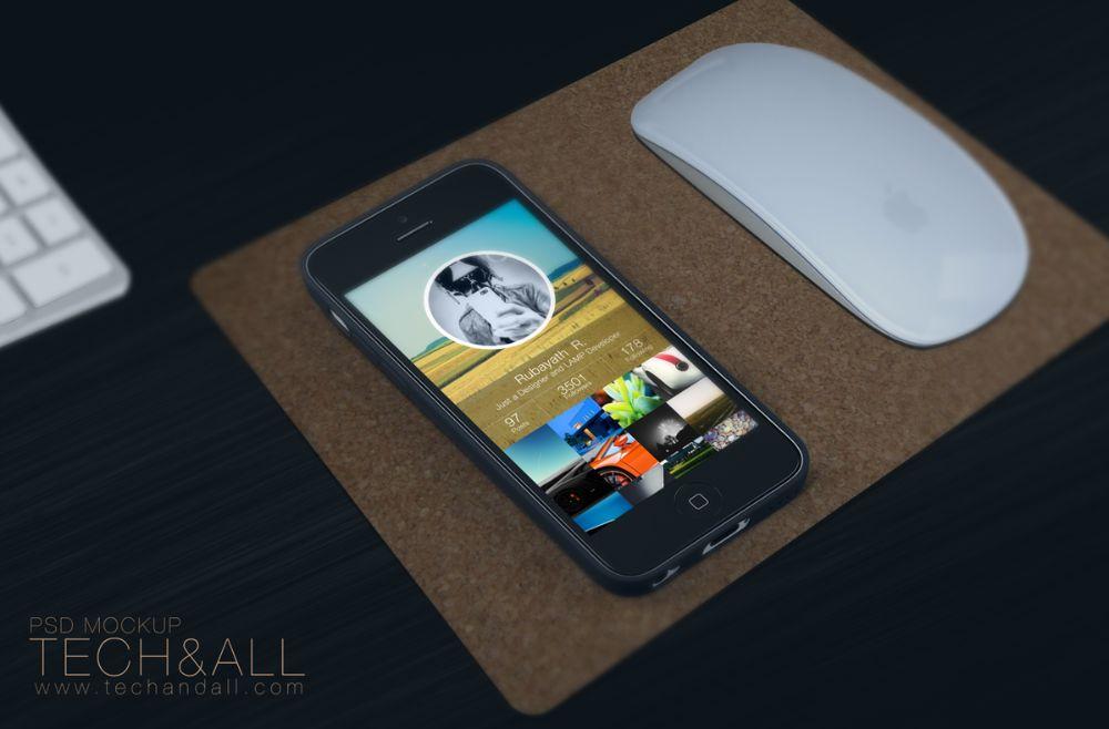 iPhone Workspace Mockup