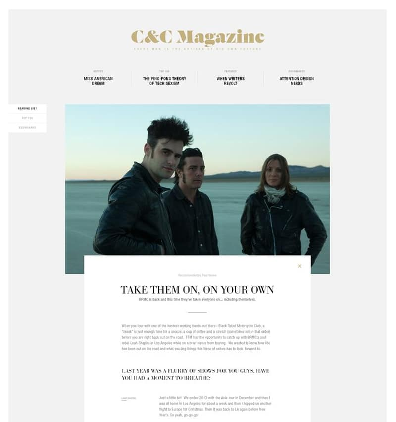 Web Design C-Mag