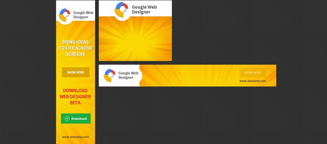 Google Web Design HTML 5 Animated Banner