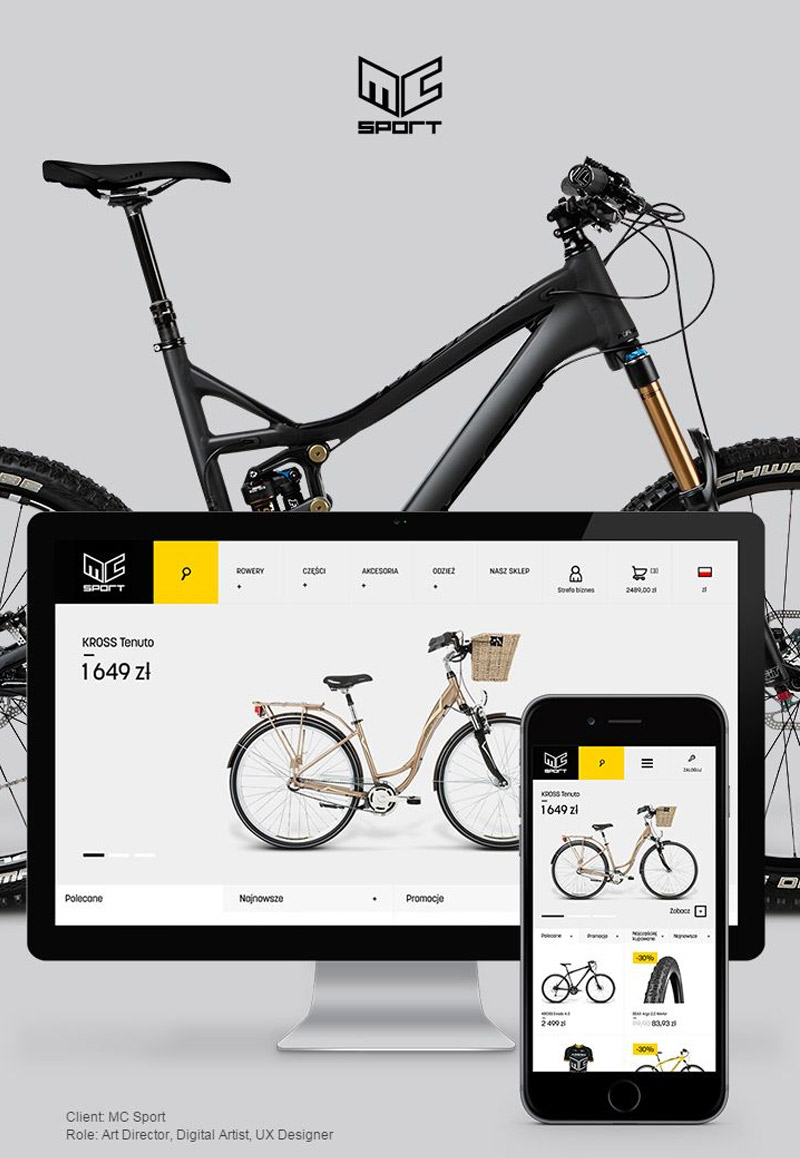 MC Sport Website Modern Web Designs