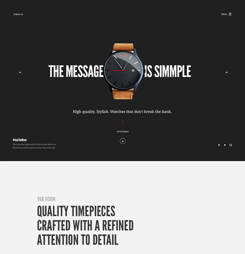Watches Layout Web Design