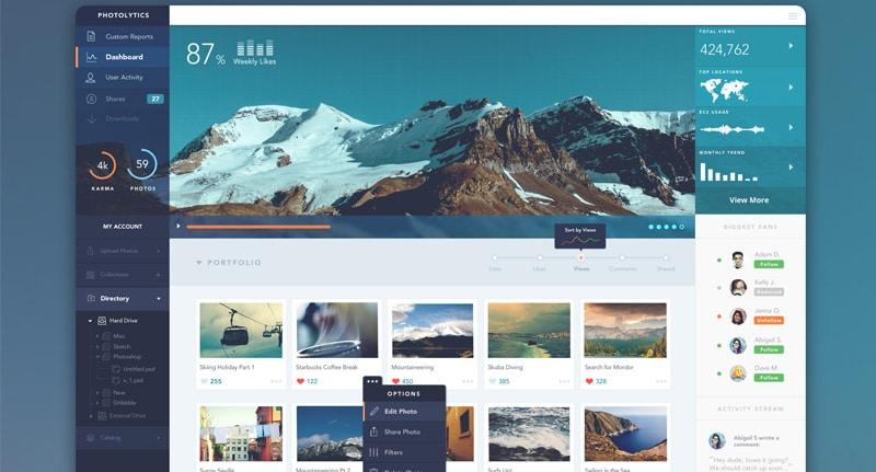 PhotoLytics Web App Design