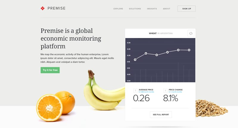 Premise Web App Design