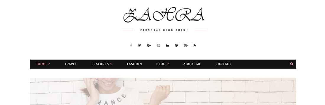 Zahra Blog - Personal Blog Template
