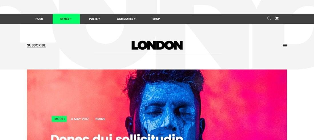 London - A Blog Template