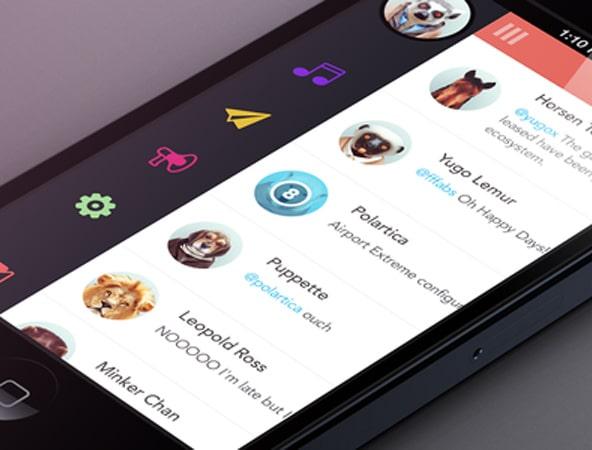 Lister UI Mobile Navigation