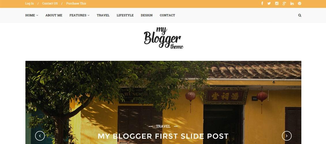 Myblogger WordPress blog Themee