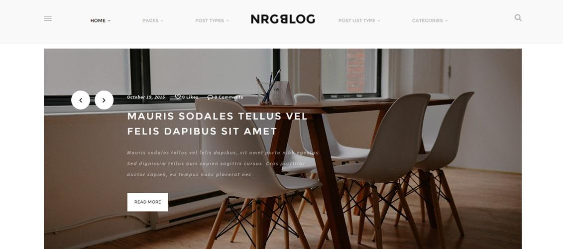 NRGblog WordPress blog Theme