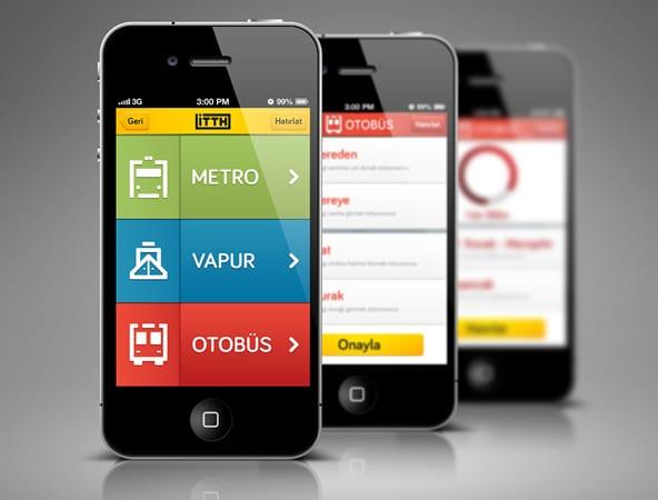 Public Transportation iPhone App Mobile Navigation