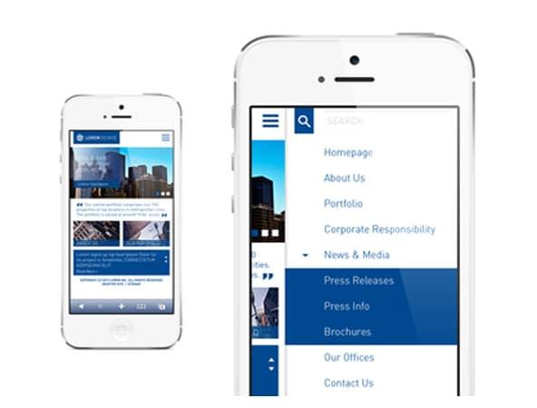 Real estate Mobile Navigation