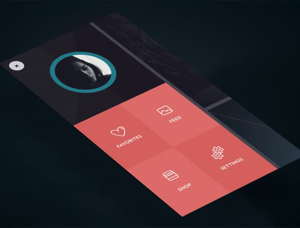 Side menu animation UI Mobile Navigation