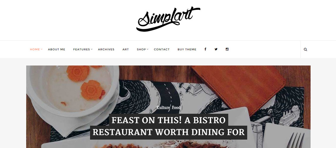 Simplart WordPress blog Theme
