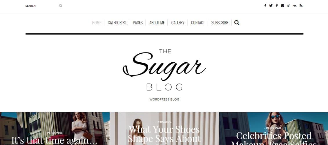 SugarBlog WordPress blog Theme