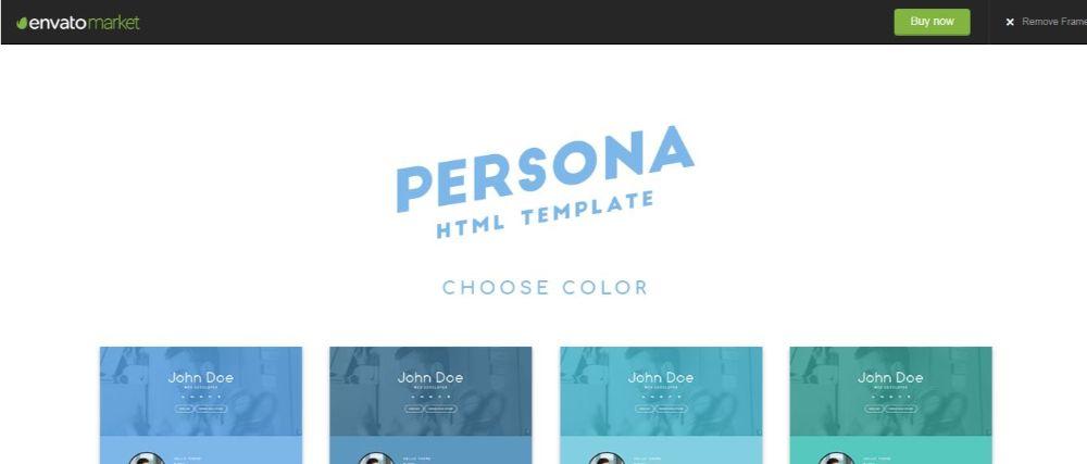 Persona HTML 5 Template