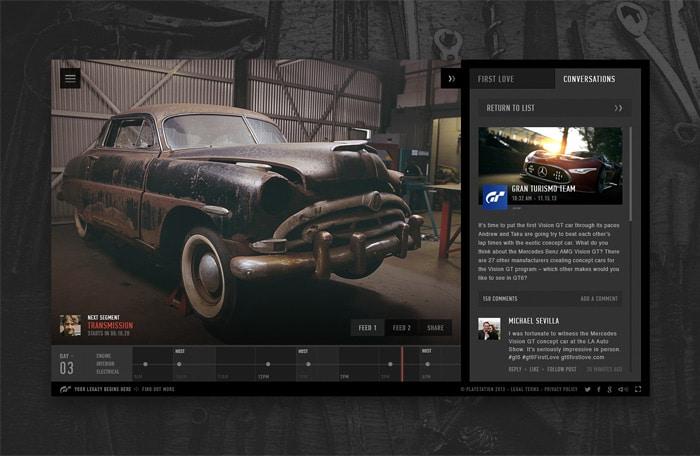 Gran Turismo Social Network Designs