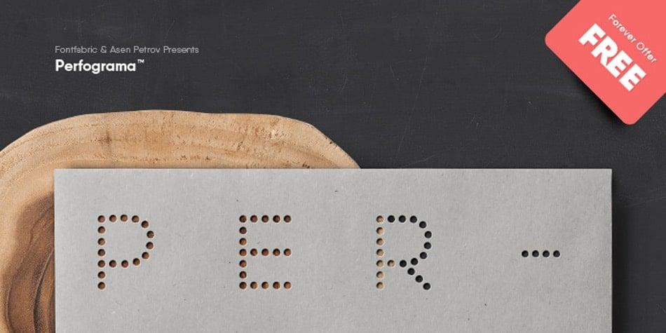 Perfograma Free Minimalist Fonts
