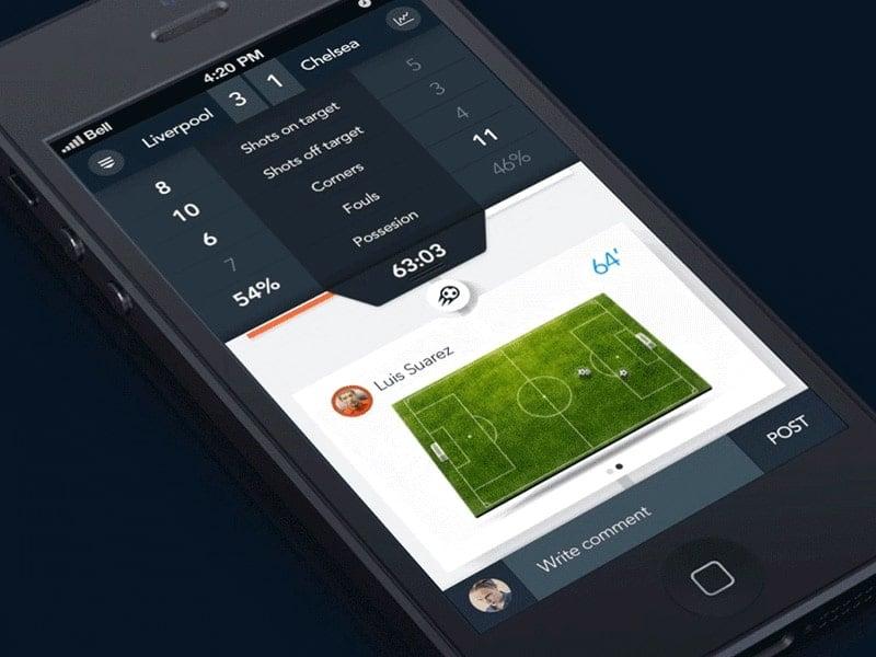 Soccer App Designs
