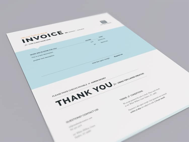Clean Invoice Designs