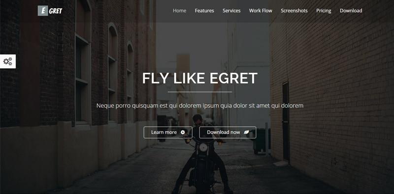 Egret---HTML5-landing-page