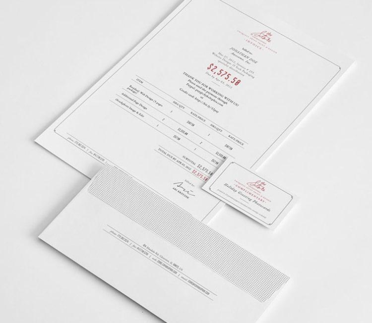 Front Invoice Design