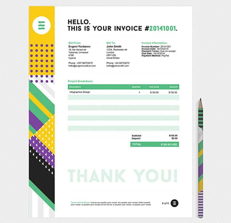 graphic Invoice Designs