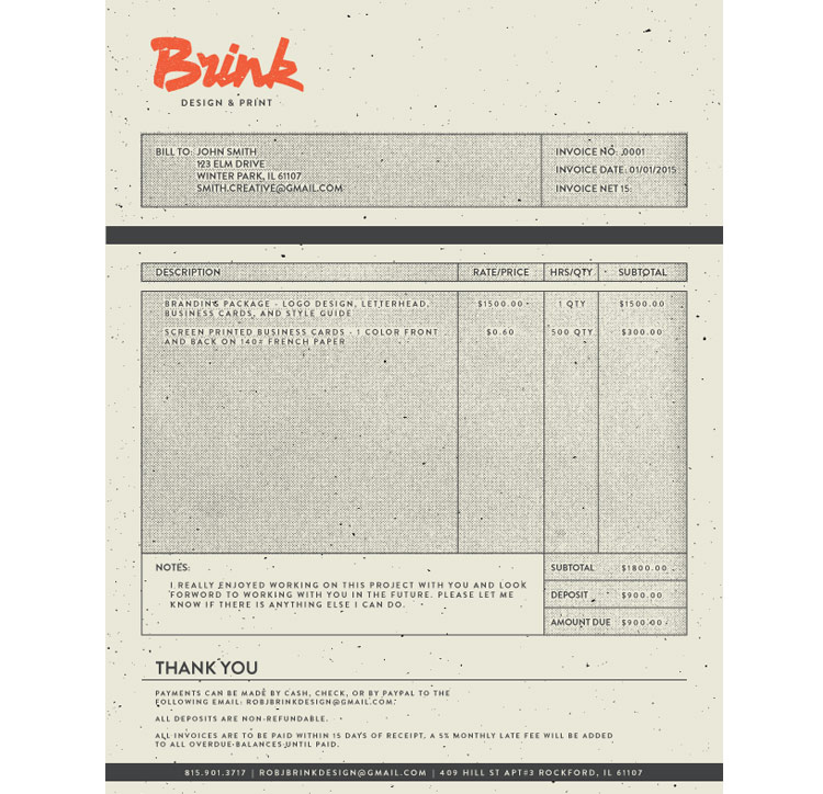 Vintage Invoice Designs