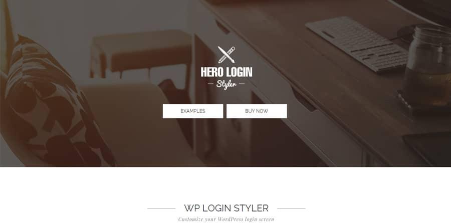 Hero Login Styler