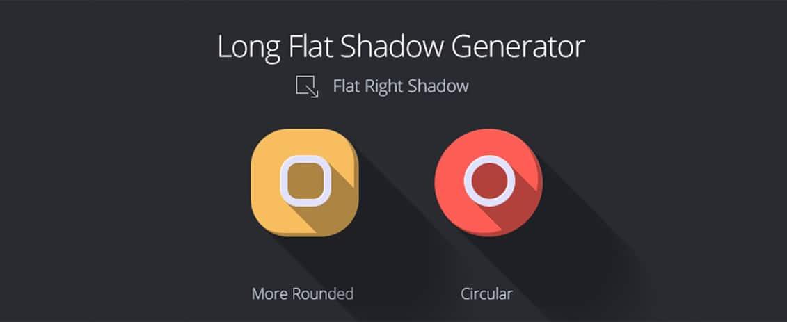 Long flat shadow generator