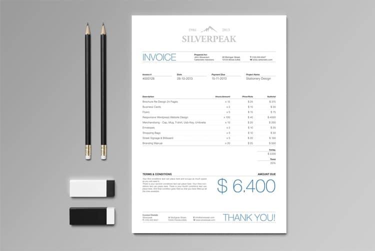 Scale Invoice Designs