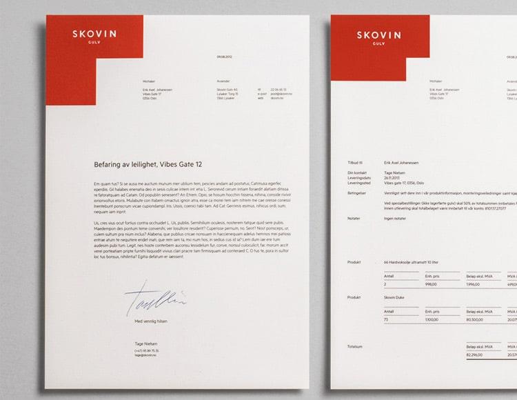Splash Invoice Designs