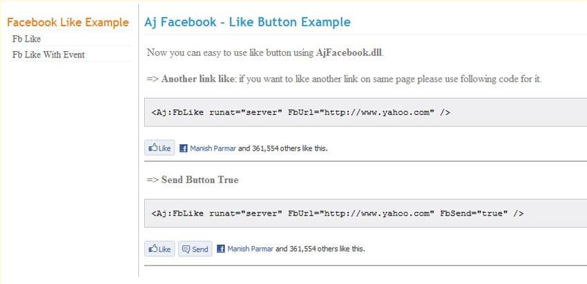 Facebook Like Event