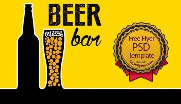 Beer Flyer PSD