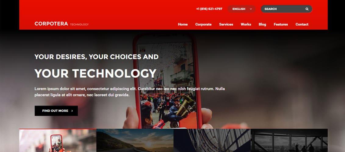 CORPOTERA Digital Downloads Website Templates