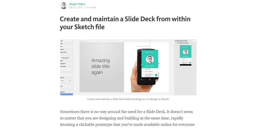 Create Slide Deck Sketch file