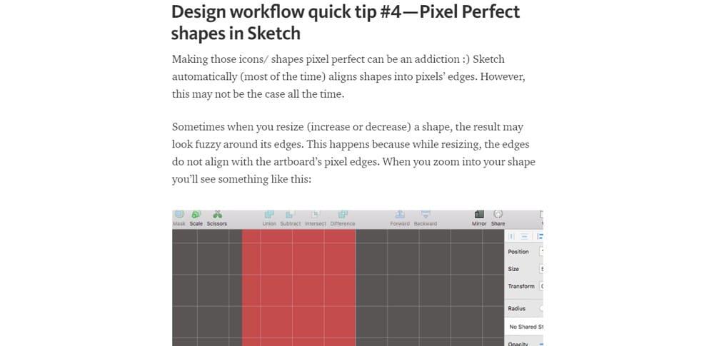 Design workflow Sketch App Tutorials