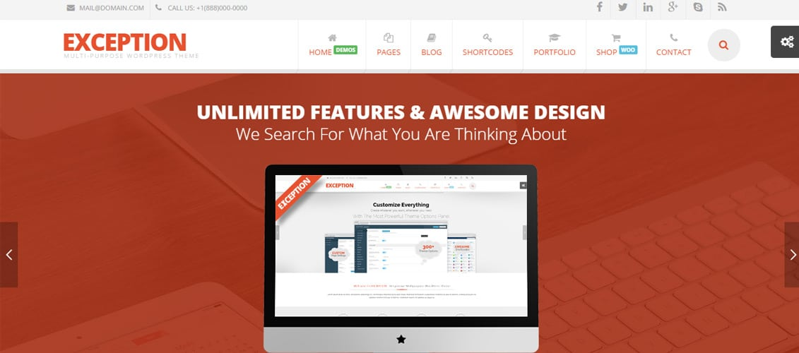 EXCEPTION Responsive Digital Downloads Website