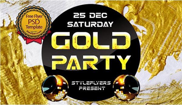 Gold Flyer PSD