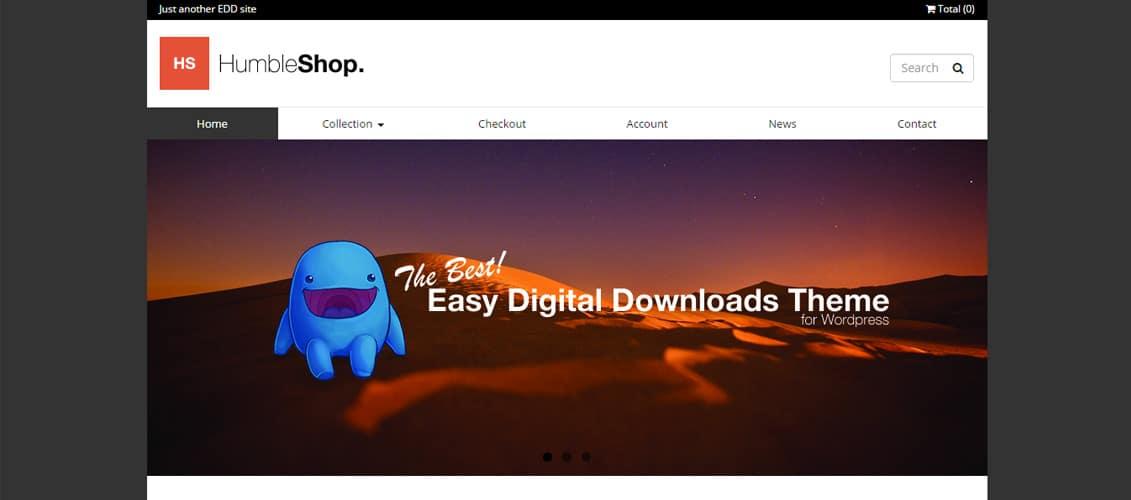 Humbleshop Digital Downloads Website