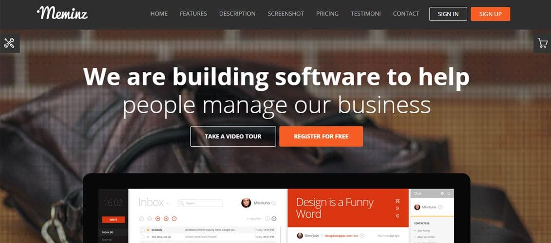 Meminz Download Software Landing Page Theme