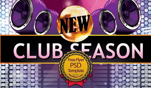 New Club Flyer PSD