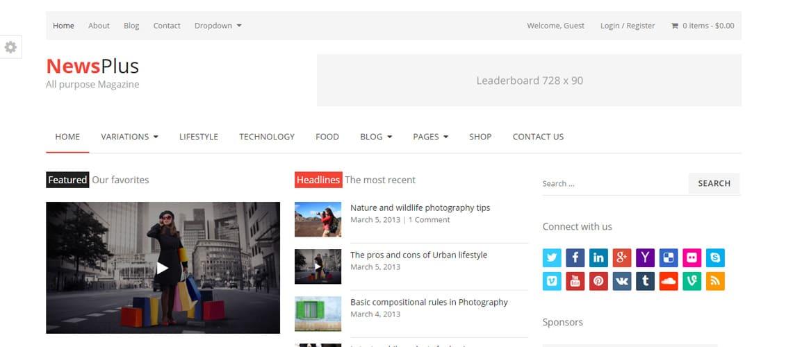 NewsPlus Digital Downloads Website