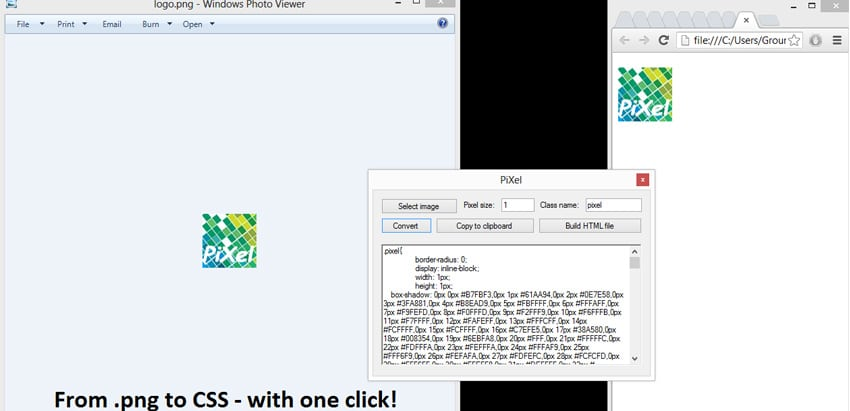 PiXel Convert image CSS