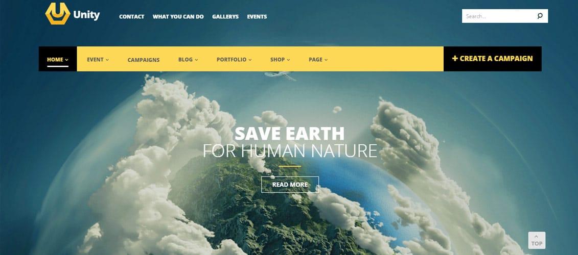 Unity Digital Downloads Website Crowdfunding Theme