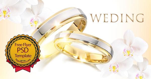 Wedding Flyer PSD Template