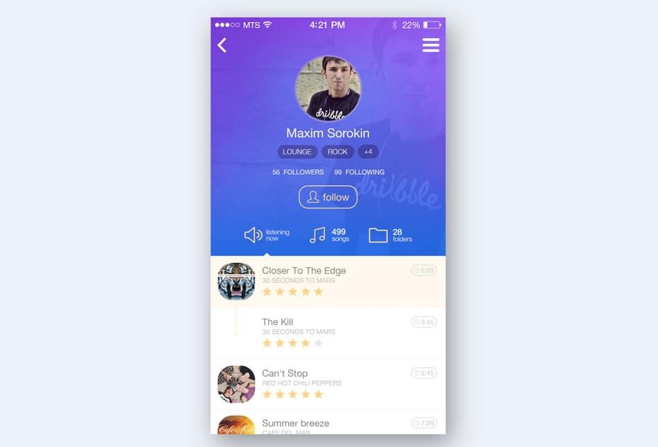 Music-App-Profil