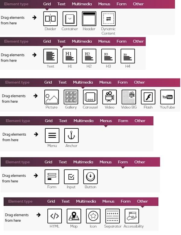 Simbla-responsive-website-builder-element-options-8