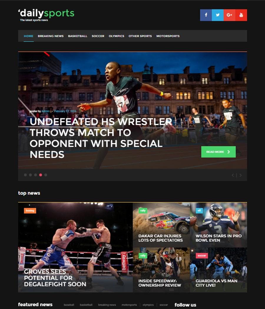 daily-sports-gpl wordpress theme
