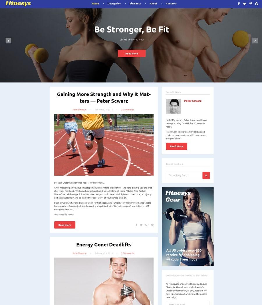 fitnesys-gpl wordpress theme