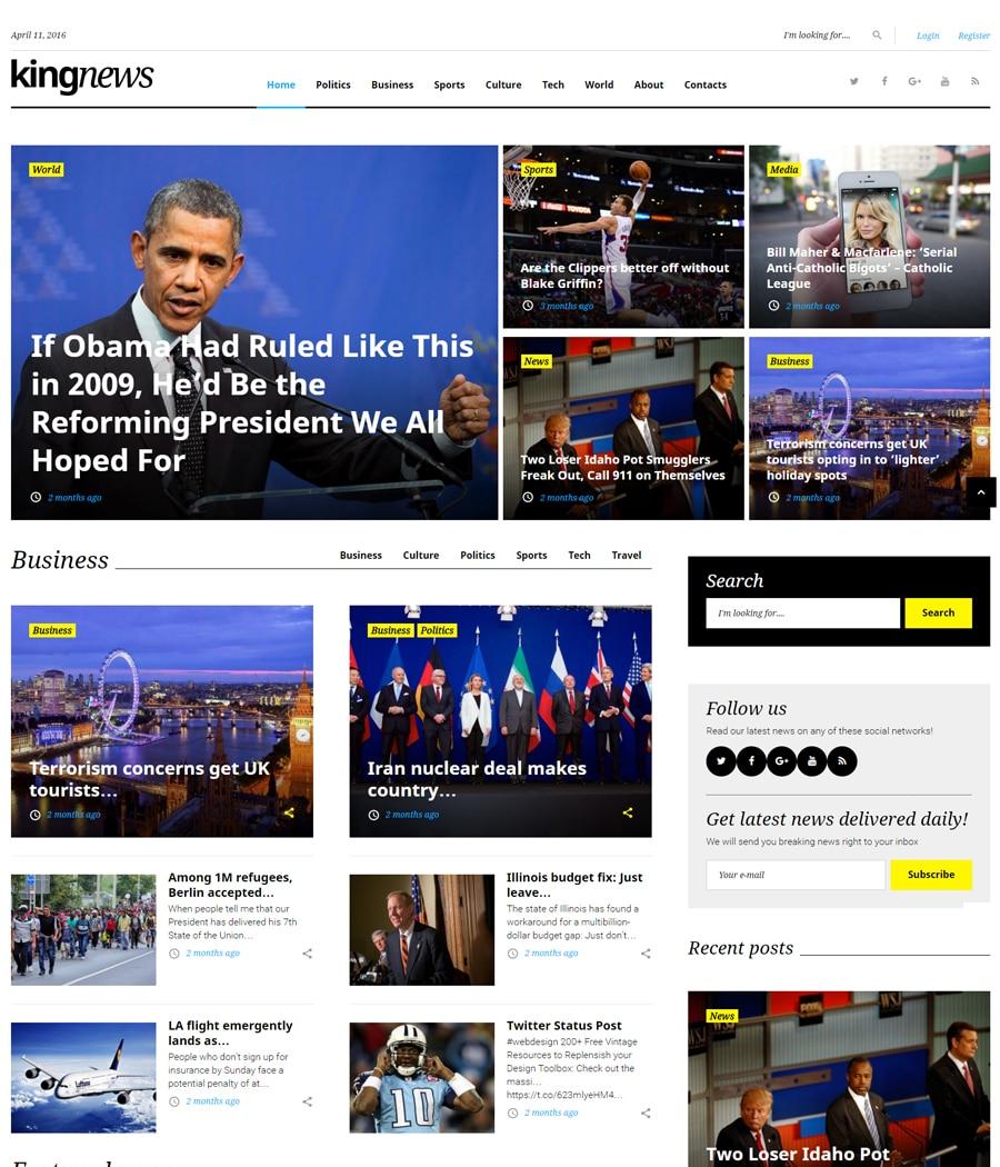 kingnews-gpl wordpress theme