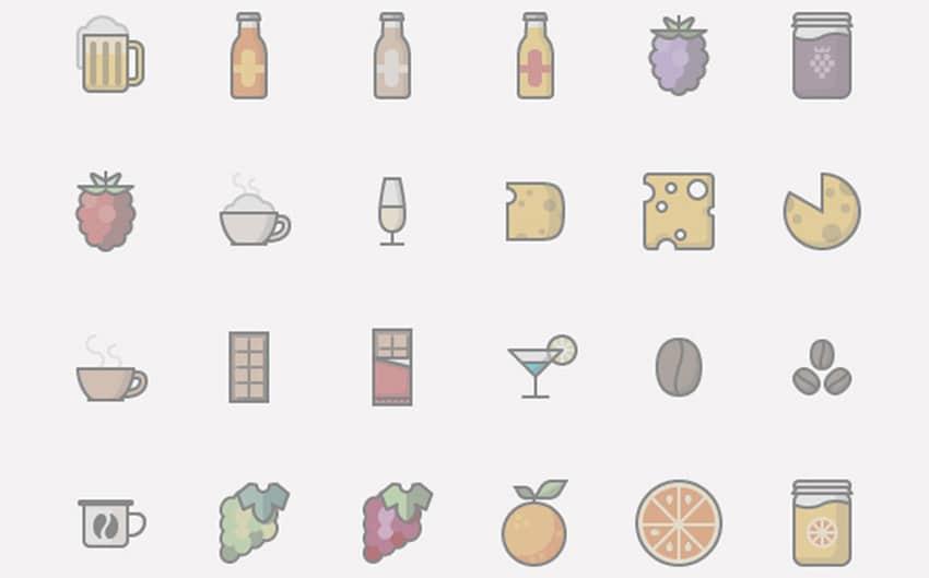Food Drinks Icon Set